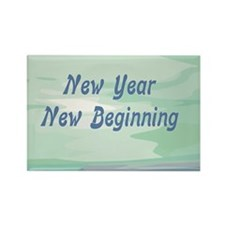 New Year New Beginning Rectangle Magnet