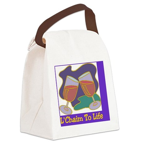 LChaim TO Life Canvas Lunch Bag