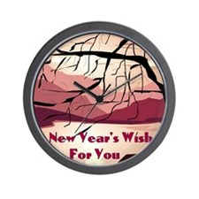 A new years wish for you Wall Clock