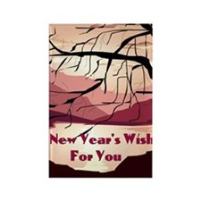 A new years wish for you Rectangle Magnet