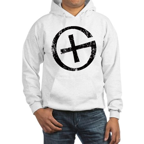 Geocache symbol distresssed Hooded Sweatshirt
