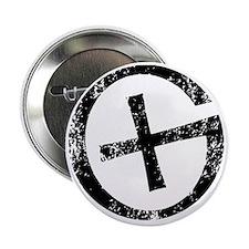 """Geocache symbol distresssed 2.25"""" Button"""
