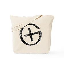 Geocache symbol distresssed Tote Bag