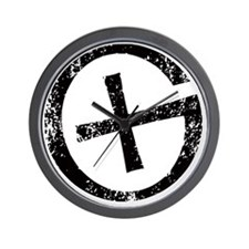 Geocache symbol distresssed Wall Clock