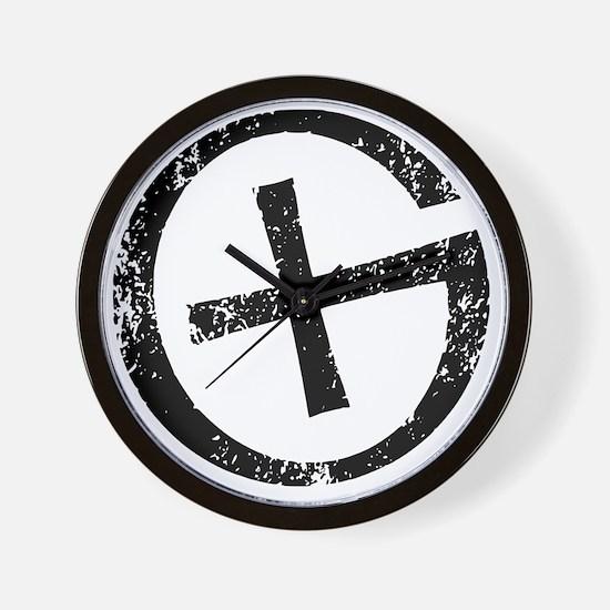 Geocache symbol distresssed Wall Clock