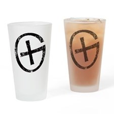 Geocache symbol distresssed Drinking Glass