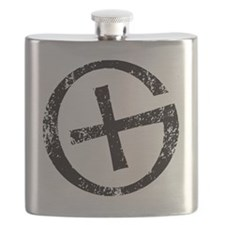 Geocache symbol distresssed Flask