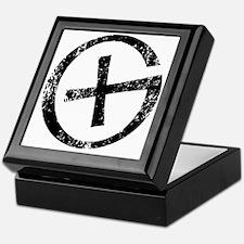 Geocache symbol distresssed Keepsake Box