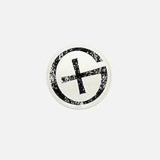 Geocache symbol distresssed Mini Button