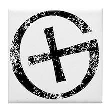 Geocache symbol distresssed Tile Coaster