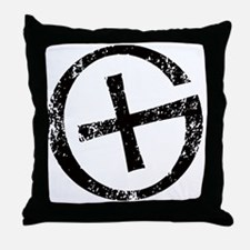 Geocache symbol distresssed Throw Pillow
