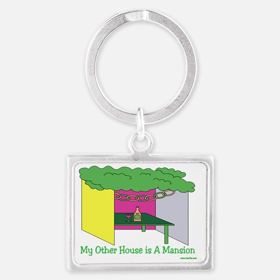 My Other House Is A Mansion Landscape Keychain