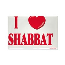 I love shabbat Rectangle Magnet