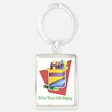 Color your life happy Portrait Keychain