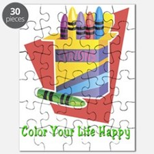 Color your life happy Puzzle