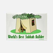 wWorlds Best Sukkah Builder Rectangle Magnet