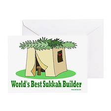 Worlds Best Sukkah Builder Greeting Card