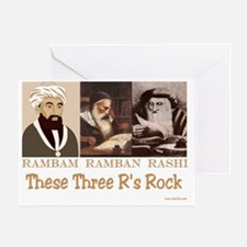 These Three Jewish Rs Rock Greeting Card