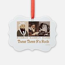 These Three Jewish Rs Rock Ornament