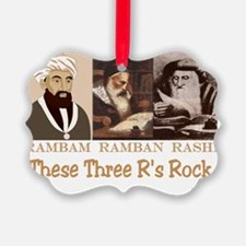 These Three Jewish Rs Rock Picture Ornament