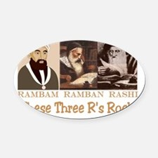 These Three Jewish Rs Rock Oval Car Magnet