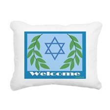 Welcome to my Sukkah Rectangular Canvas Pillow