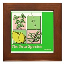 Te Four Species Succah Poster Framed Tile