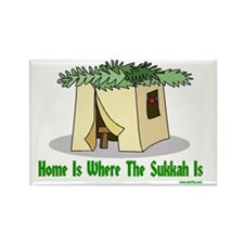 Home is Where the Sukkah Is Poste Rectangle Magnet