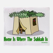 Home is Where the Sukkah Is Poster Throw Blanket