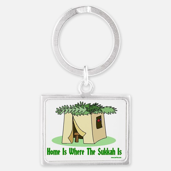 Home Is Where The Sukkah Is Pos Landscape Keychain