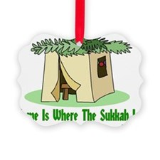 Home Is Where The Sukkah Is Poste Picture Ornament
