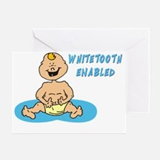 White Tooth Enabled Greeting Card
