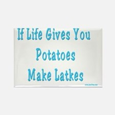 Make Latkes Rectangle Magnet