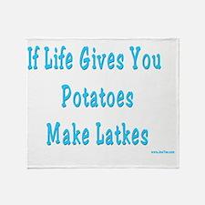Make Latkes Throw Blanket