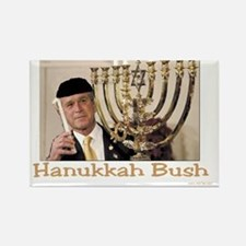 Hanukkah Bush Rectangle Magnet