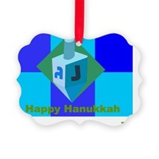 Happy Hanukkah Dreidel Ornament