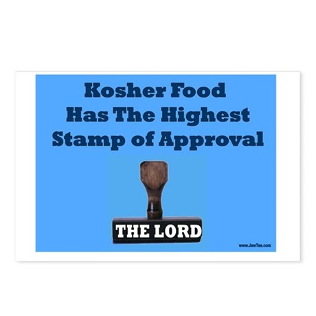 Kosher Stamp of Approval Postcards (Package of 8)