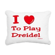i love to play dreidel Rectangular Canvas Pillow