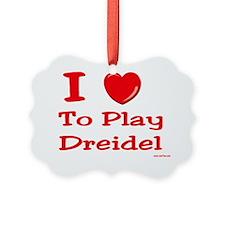 i love to play dreidel Ornament
