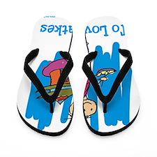 Jewish Latkes Flip Flops