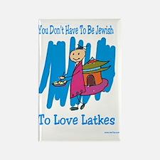 Jewish Latkes Rectangle Magnet