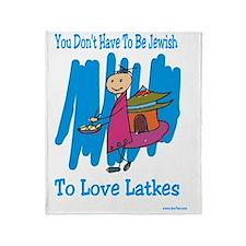 Jewish Latkes Throw Blanket