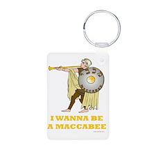 I Wanna Be A Maccabee Aluminum Photo Keychain