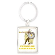 I Wanna Be A Maccabee Portrait Keychain