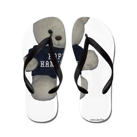 Happy Hanukkah Teddy Bear Flip Flops