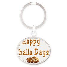 Happy Challa Days flat Oval Keychain
