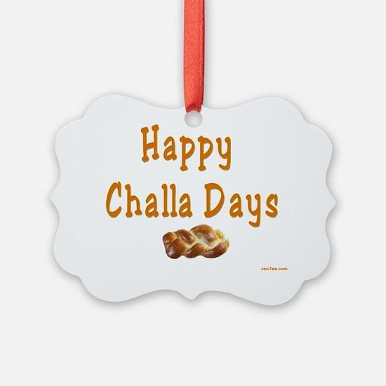 Happy Challa Days flat Ornament