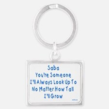 Look up to Saba Landscape Keychain