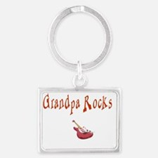 grandpa rocks red Landscape Keychain