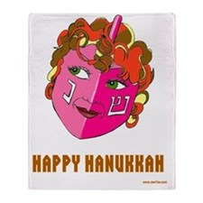 HAPPY HANUKKAH DRIEDEL Throw Blanket